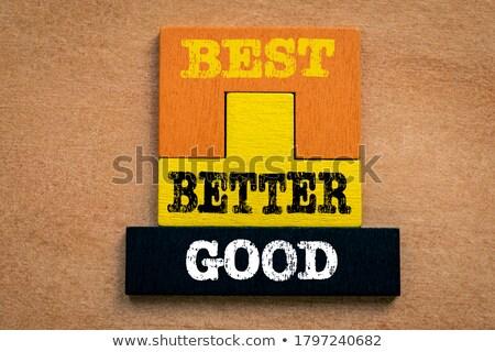 best choice concept on orange puzzle stock photo © tashatuvango