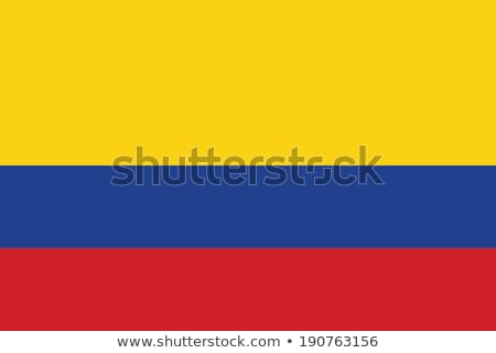 Bandeira Colômbia vento Foto stock © creisinger
