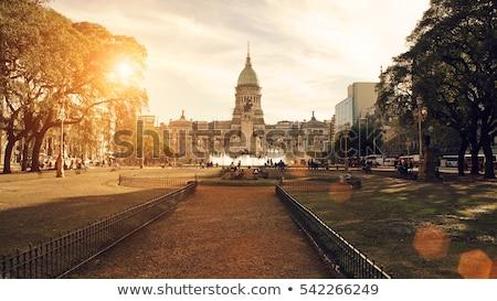 Buenos · Aires · sziluett · sziluett · modern · vízpart · kerület - stock fotó © unkreatives