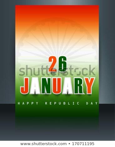 Belo folheto modelo elegante indiano bandeira Foto stock © bharat