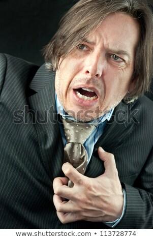 hartaanval · zakenman · handen · medische · gezondheid - stockfoto © jackethead