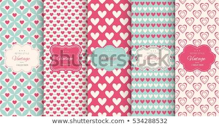 heart pattern set stock photo © burakowski