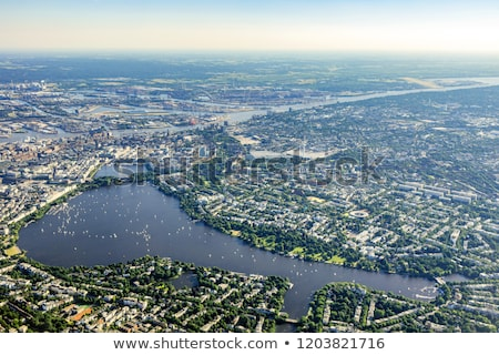 Skyline · Гамбург · воды · лодка · реке · док - Сток-фото © meinzahn