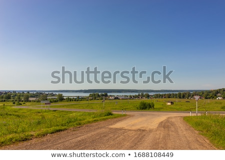 settlement near the edge of the  field Stock photo © meinzahn