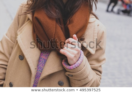 Woman with wool scarf Stock photo © w20er
