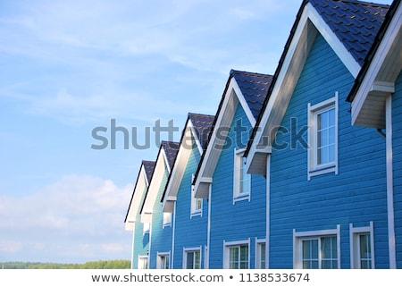 facade of house with blue sky stock photo © meinzahn