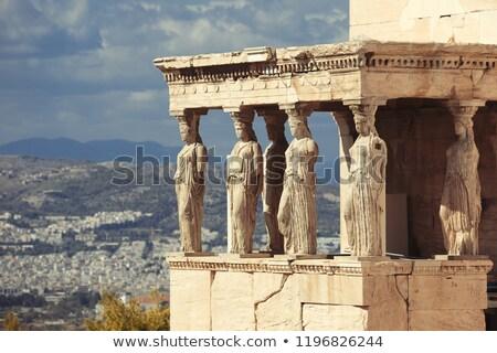 varanda · templo · Acrópole · Atenas · Grécia · seis - foto stock © sirylok