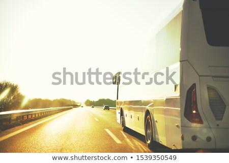 Rodovia noite veículos Israel estrada pôr do sol Foto stock © rglinsky77