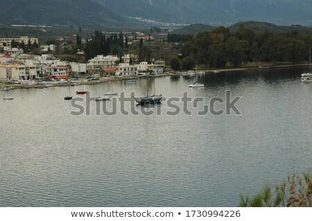 Görög ortodox templom sziget kicsi Görögország Stock fotó © ankarb