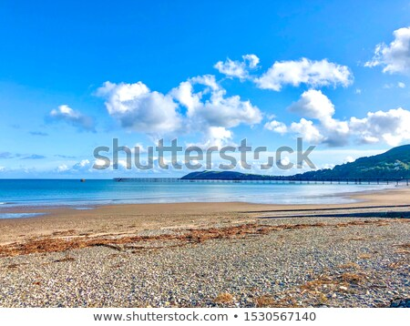 Deserted stone pier or seawall Stock photo © stryjek