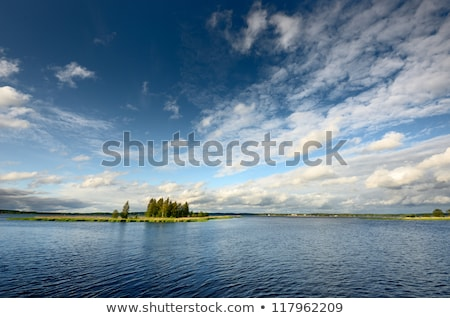 Blue Waters and Skies on a Wilderness Lake Stock photo © wildnerdpix