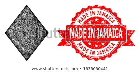 Jamaika kırmızı damga yalıtılmış Stok fotoğraf © tashatuvango