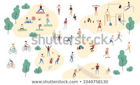 Emberek fut sportok játék sport test Stock fotó © gemenacom