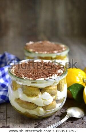 Limón tiramisu tarta de queso torta desayuno Foto stock © M-studio
