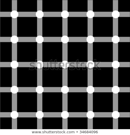 Optical art grid in black and grey with white dots  Stock photo © shawlinmohd