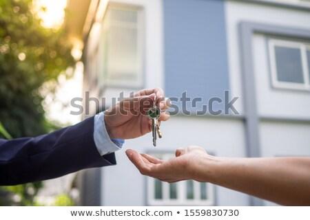único · dourado · chave · ilustração · 3d · branco · casa - foto stock © 3mc