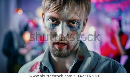 Zombie portret groază sânge băiat mort Imagine de stoc © ddraw