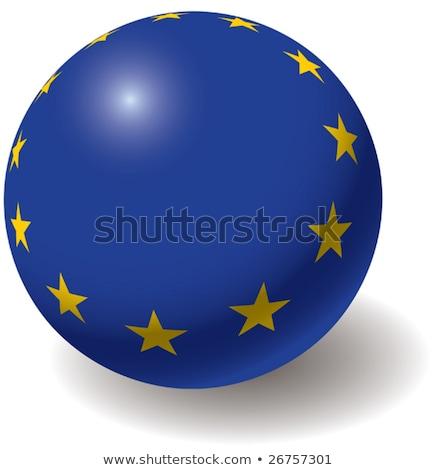 Európai szövetség zászló textúra labda dizájn elem Stock fotó © boroda