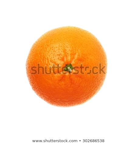 Studio shot single peeled mandarine isolated on white Stock photo © dla4