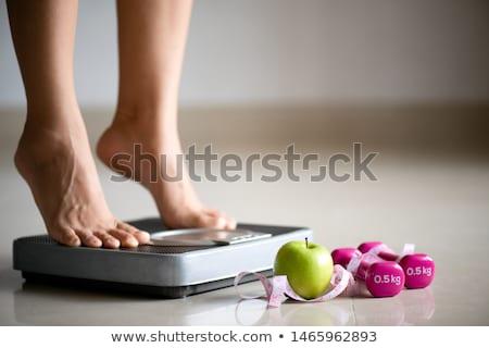 ağırlık · kontrol · kadın · mutlu · güzellik - stok fotoğraf © elnur