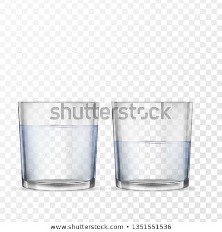 empty glass for water on white background stock photo © ozaiachin