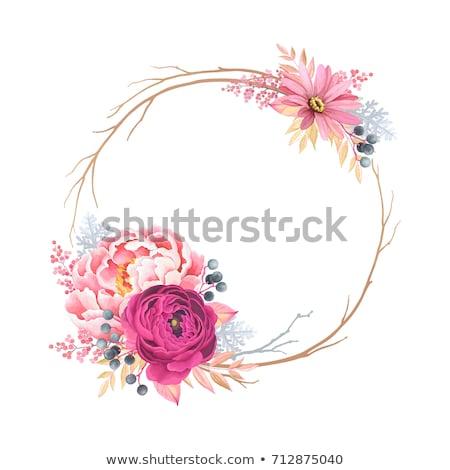flower wreath decoration with ranunculus stock photo © dariazu