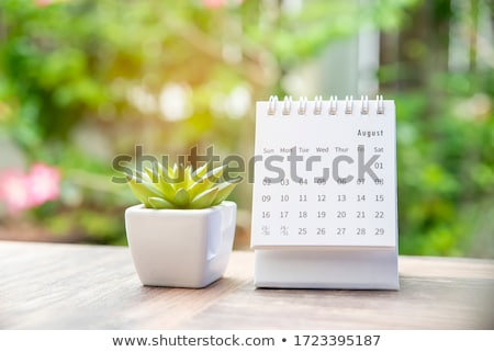 desk in home office   august stock photo © capturelight