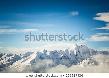 лыжных · курорта · Альпы · зима · пейзаж · небе - Сток-фото © kasjato