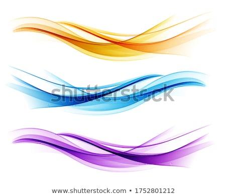ストックフォト: 紫色 · 抽象的な · 曲線 · 波状の · 背景 · 絵画