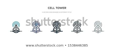 router · illustrazione · oggetto · antenna · vettore · nessuno - foto d'archivio © rizwanali3d