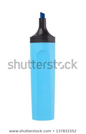 Blauw · markeerstift · geïsoleerd · witte · kantoor · papier - stockfoto © michaklootwijk