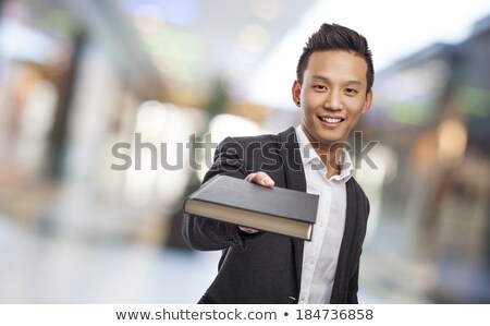 ビジネスマン 与える 議題 孤立した オフィス 手 ストックフォト © fuzzbones0