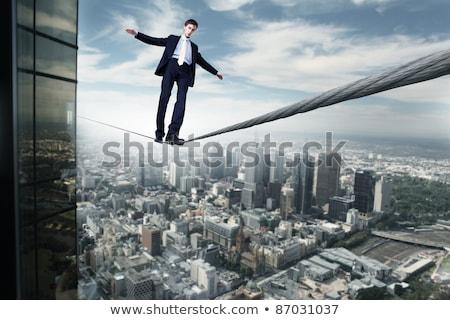 Сток-фото: деловой · человек · баланса · ходьбы · изолированный · человека · безопасности