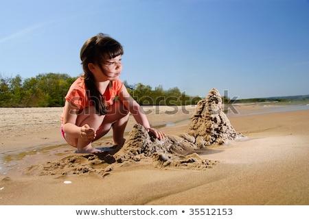 children makes sandcastle Stock photo © adrenalina