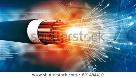 繊維 オプティカル ケーブル オレンジ データ 白 ストックフォト © vtls