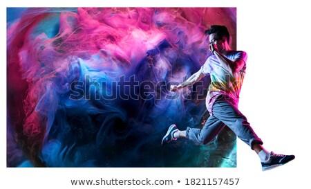sexy · karnawałowe · tancerzy · taniec · odizolowany · biały - zdjęcia stock © stockyimages