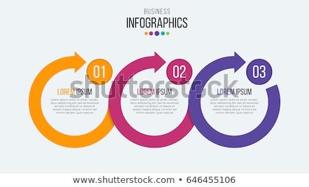Progress icons for three steps Stock photo © netkov1
