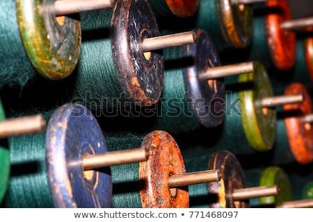 Verde seta tessili mill mano sfondo Foto d'archivio © stoonn