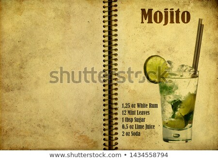 Caipirinha on a notebook page Stock photo © netkov1