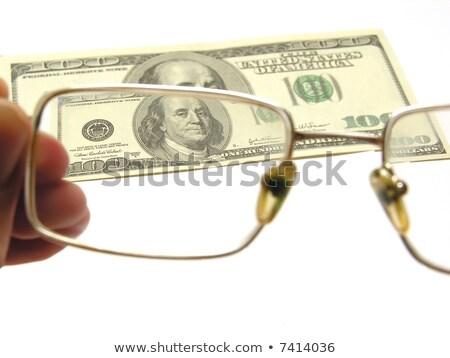 Uno cento dollari primo piano bianco Foto d'archivio © Paha_L