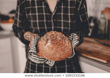 Rounded loaf of freshly baked sourdough bread Stock photo © ozgur