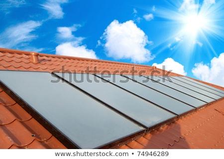 Solar panels (geliosystem) on the house roof. Stock photo © vapi