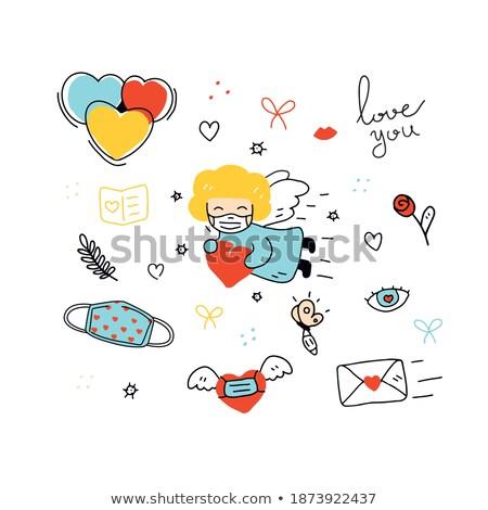 Diferente romântico coisas desfrutar vida papel de parede Foto stock © netkov1