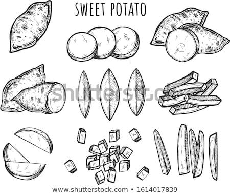 Gotowany ziemniaczanej organiczny szczegół Zdjęcia stock © Digifoodstock