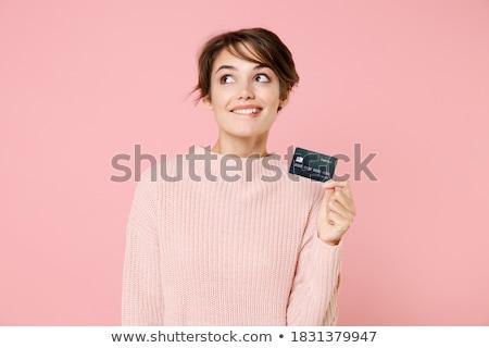 Stockfoto: Meisje · poseren · portretten · studio · vrouw · mode