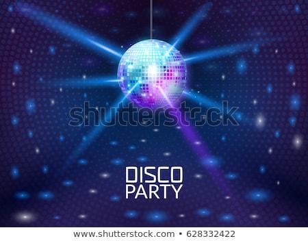 kleurrijk · disco · spiegel · bal · lichten · nachtclub - stockfoto © artfotodima