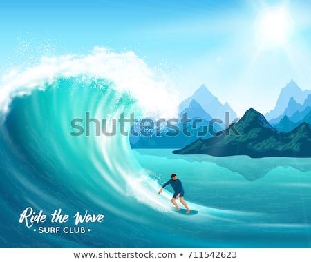 ファー 波 クレスト サーフィン 水 スポーツ ストックフォト © jossdiim