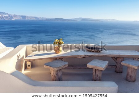 Blue summer sky in Mediterranean sea Stock photo © lunamarina