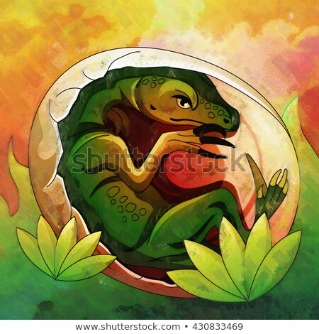 Hatching Dinosaur Egg IIllustration Stock photo © ConceptCafe