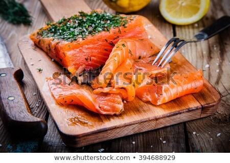 Salmon Gravlax Stock photo © Digifoodstock